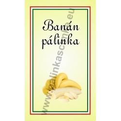 """Banán pálinkás címke - """"simple"""""""