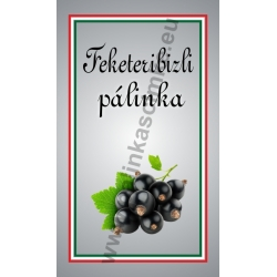 """Fekete ribizli pálinkás címke - """"simple"""""""