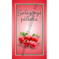 """Galagonya pálinkás címke - """"simple"""""""