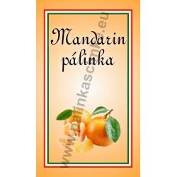 "Mandarin pálinkás címke - ""simple"""