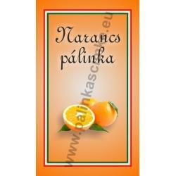 """Narancs pálinkás címke - """"simple"""""""