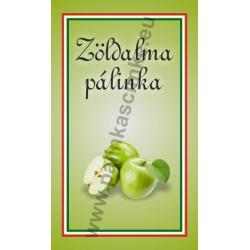 """Zöld alma pálinkás címke - """"simple"""""""