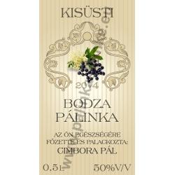 """Bodza pálinkás címke - """"traditional"""""""