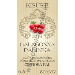 """Galagonya pálinkás címke - """"traditional"""""""