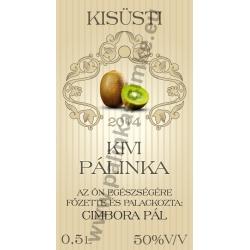 """Kivi pálinkás címke - """"traditional"""""""