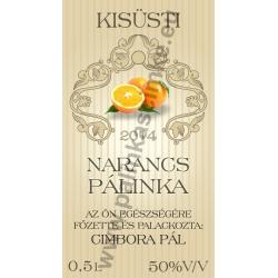"""Narancs pálinkás címke - """"traditional"""""""