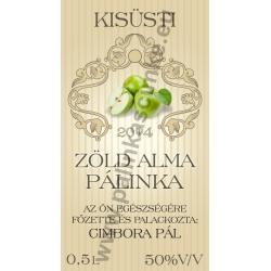 """Zöld alma pálinkás címke - """"traditional"""""""