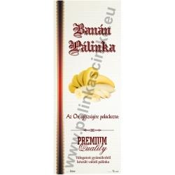"""Banán pálinkás címke - Kézzel írható - """"manuscript"""""""