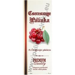 """Cseresznye pálinkás címke - Kézzel írható - """"manuscript"""""""