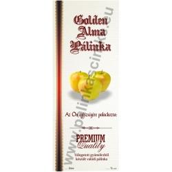 """Golden alma pálinkás címke - Kézzel írható - """"manuscript"""""""