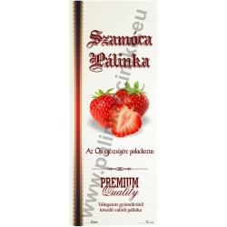"""Szamóca pálinkás címke - Kézzel írható - """"manuscript"""""""
