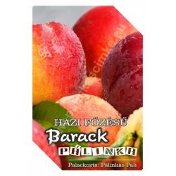 """Barack pálinka címke - """"FRUCTUS"""""""