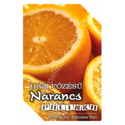 """Narancs pálinka címke - """"FRUCTUS"""""""