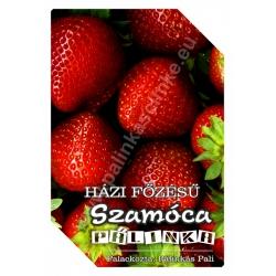 """Szamóca pálinka címke - """"FRUCTUS"""""""