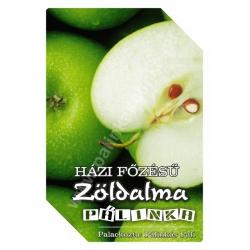 """Zöld alma pálinka címke - """"FRUCTUS"""""""
