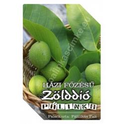 """Zöld dió pálinka címke - """"FRUCTUS"""""""
