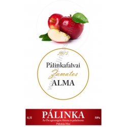 """Alma pálinka címke szett - 2 részes - """"CIRCULAR"""""""