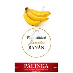 """Banán pálinka címke szett - 2 részes - """"CIRCULAR"""""""