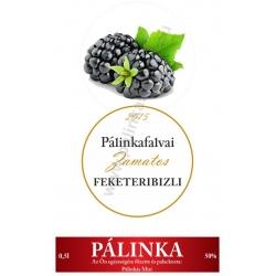 """Fekete ribizli pálinka címke szett - 2 részes - """"CIRCULAR"""""""