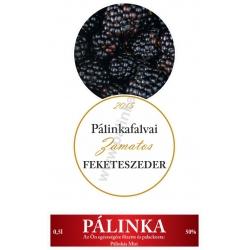 """Fekete szeder pálinka címke szett - 2 részes - """"CIRCULAR"""""""