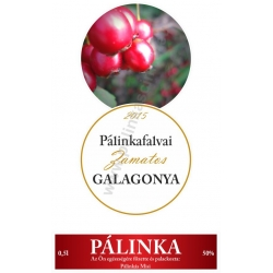 """Galagonya pálinka címke szett - 2 részes - """"CIRCULAR"""""""