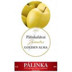 """Golden alma pálinka címke szett - 2 részes - """"CIRCULAR"""""""