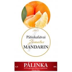 """Mandarin pálinka címke szett - 2 részes - """"CIRCULAR"""""""