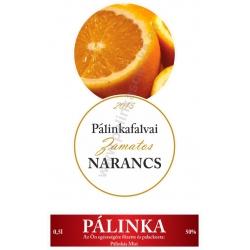 """Narancs pálinka címke szett - 2 részes - """"CIRCULAR"""""""