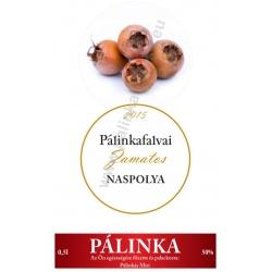 """Naspolya pálinka címke szett - 2 részes - """"CIRCULAR"""""""
