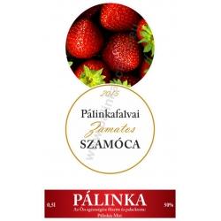 """Szamóca pálinka címke szett - 2 részes - """"CIRCULAR"""""""