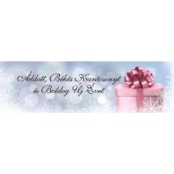 """Karácsonyi pálinka címke - """"Xmas Cold"""" nyak címke"""
