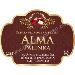 """Alma pálinka címke - """"Superb"""""""