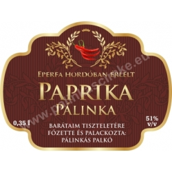 "Paprika címke - ""Superb"""