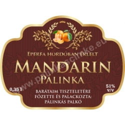 "Mandarin címke - ""Superb"""