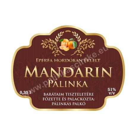 """Mandarin címke - """"Superb"""""""