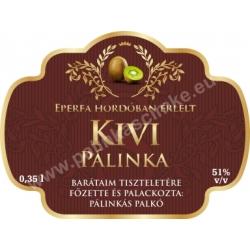"""Kivi pálinka címke - """"Superb"""""""
