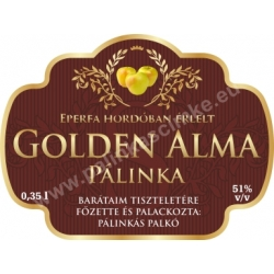 "Golden alma pálinka címke - ""Superb"""