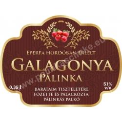 "Galagonya pálinka címke - ""Superb"""