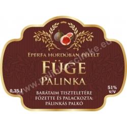 "Füge pálinka címke - ""Superb"""