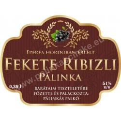 """Fekete ribizli pálinka címke - """"Superb"""""""