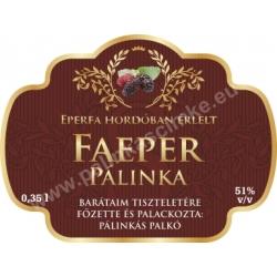 """Faeper pálinka címke - """"Superb"""""""