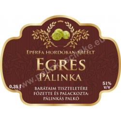 """Egres pálinka címke - """"Superb"""""""