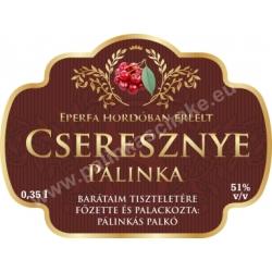 """Cseresznye pálinka címke - """"Superb"""""""