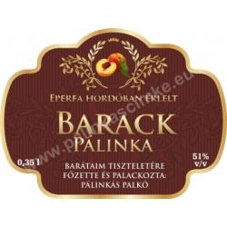 """Barack pálinka címke - """"Superb"""""""