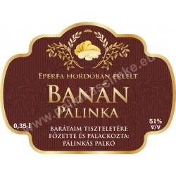 """Banán pálinka címke - """"Superb"""""""
