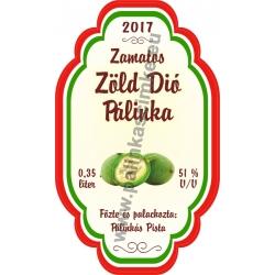 """Zöld Dió címke - """"Perfekt"""""""
