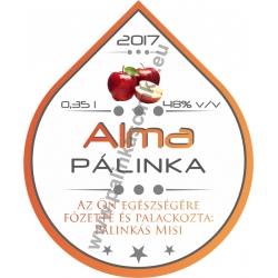 "Alma pálinka címke - ""Rain"""