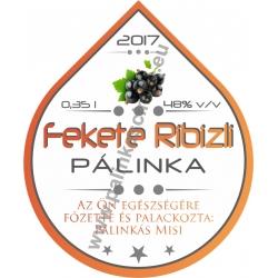 """Fekete Ribizli pálinka címke - """"Rain"""""""