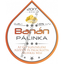 "Banán pálinka címke - ""Rain"""