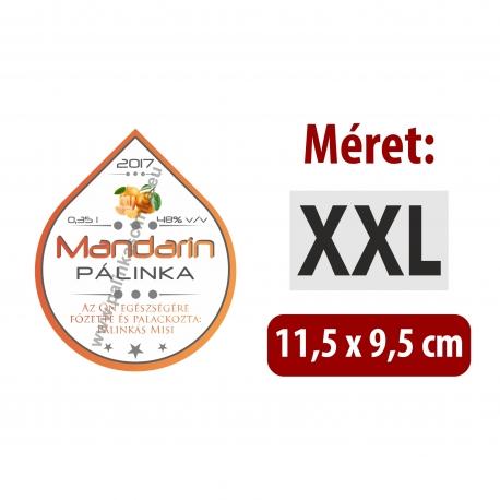 "Mandarin pálinka címke - ""Rain"""